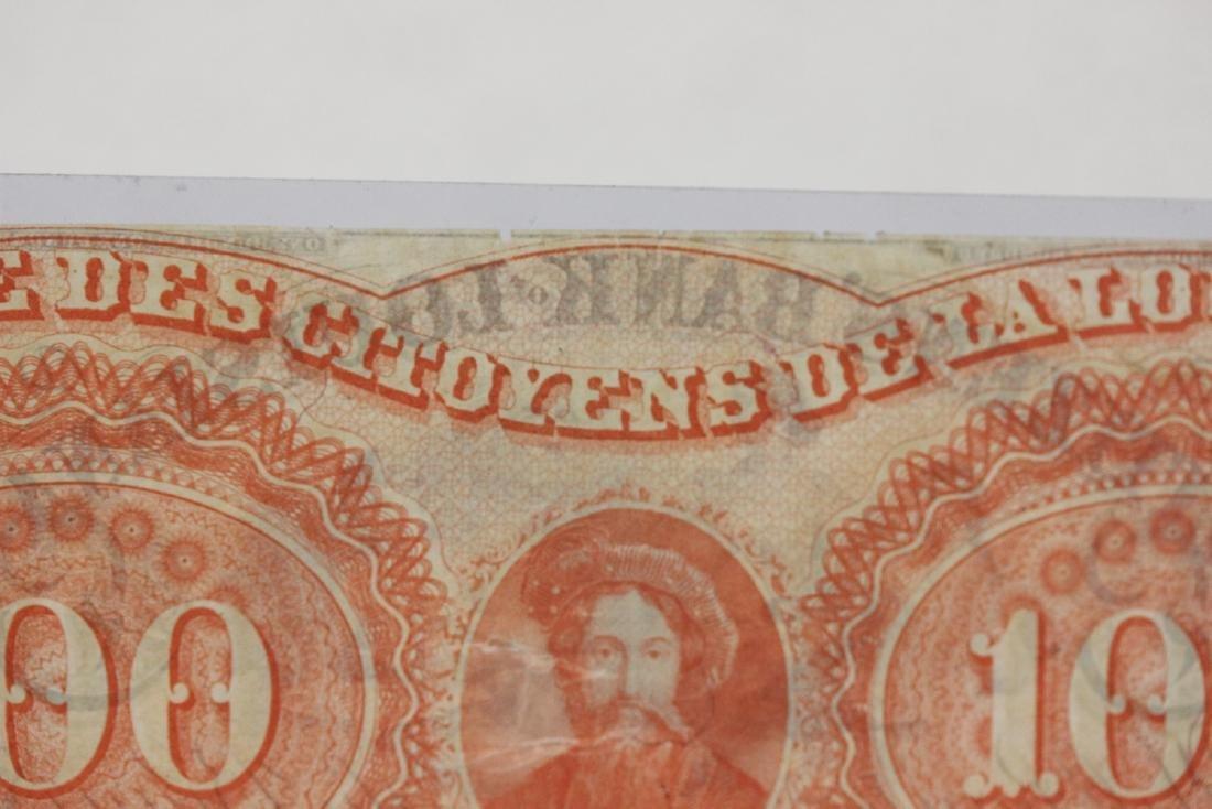 An 1857 $100 Citizen's Bank of Louisiana Note - 6