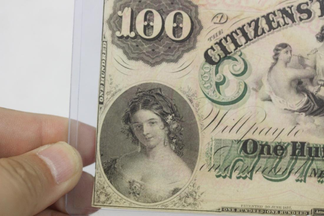 An 1857 $100 Citizen's Bank of Louisiana Note - 7