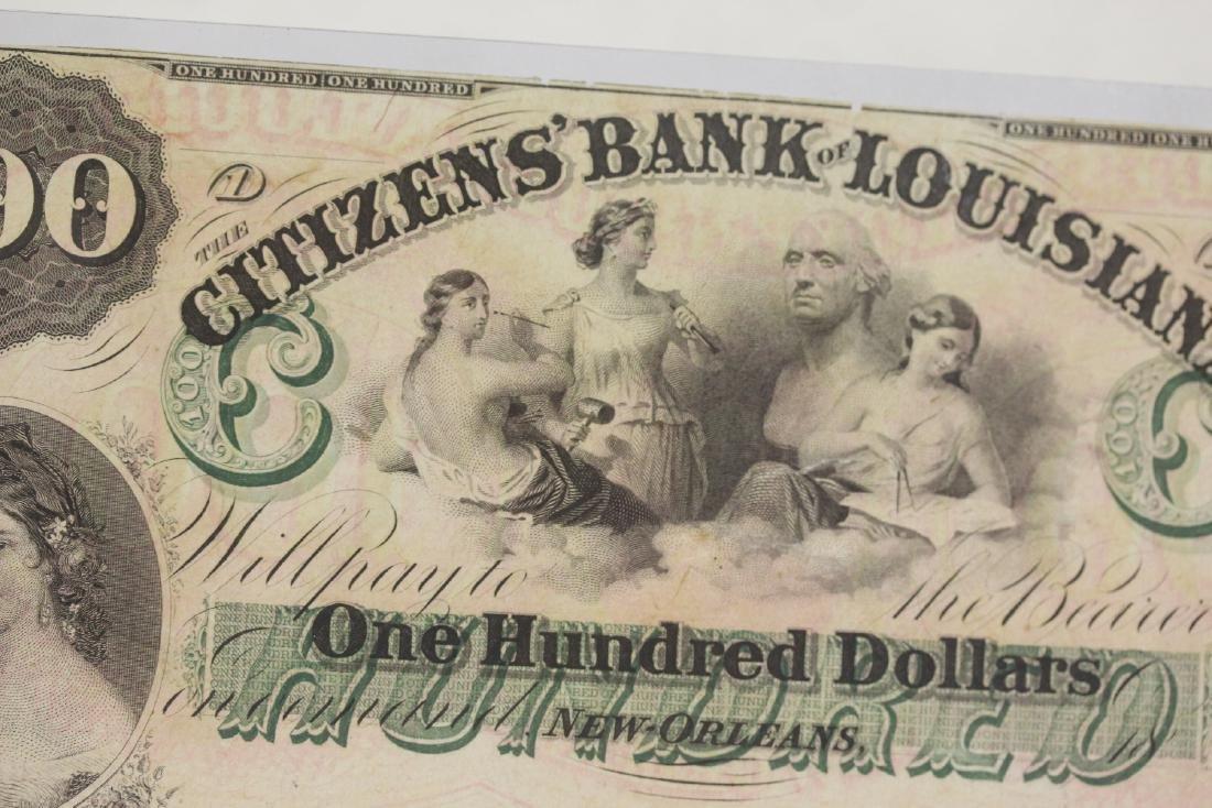 An 1857 $100 Citizen's Bank of Louisiana Note - 8