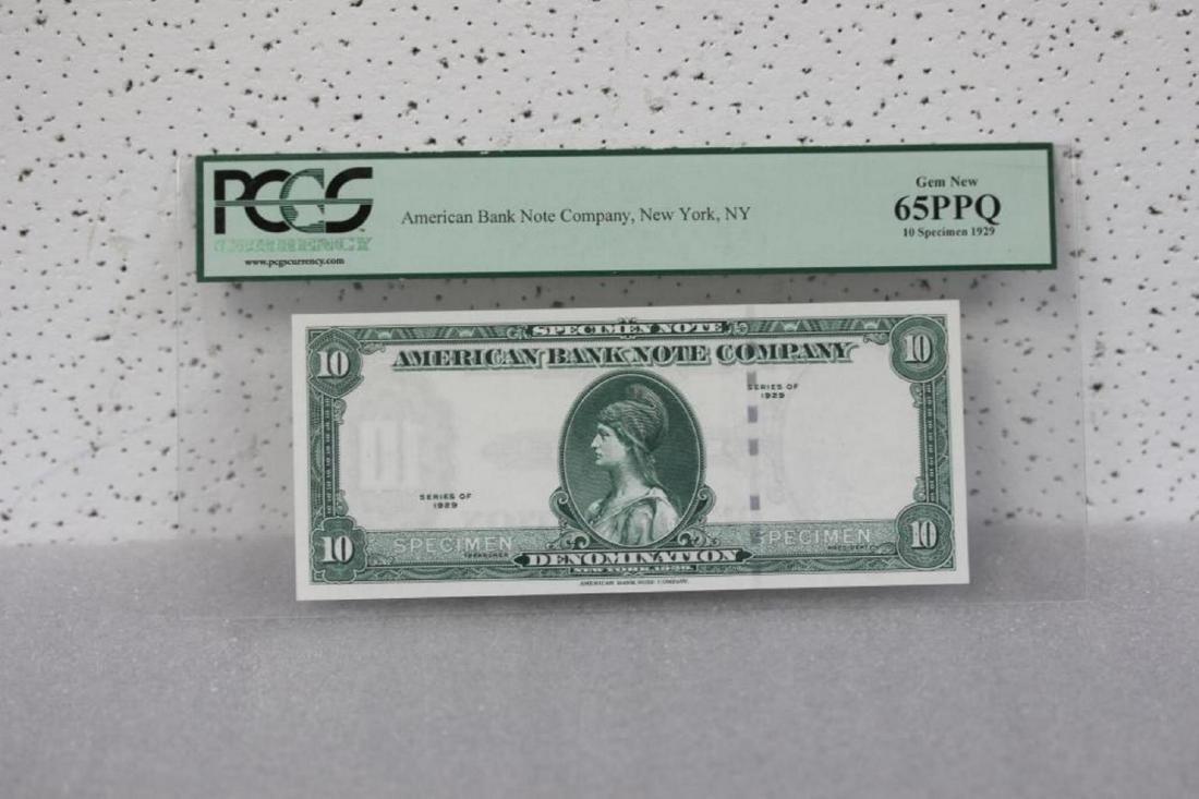 A Very Rare Graded 1929 Specimen Bank Note