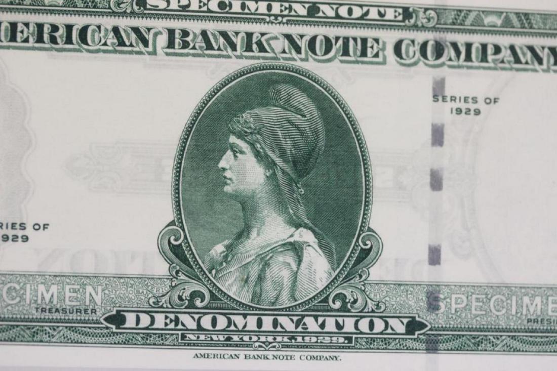 A Very Rare Graded 1929 Specimen Bank Note - 3