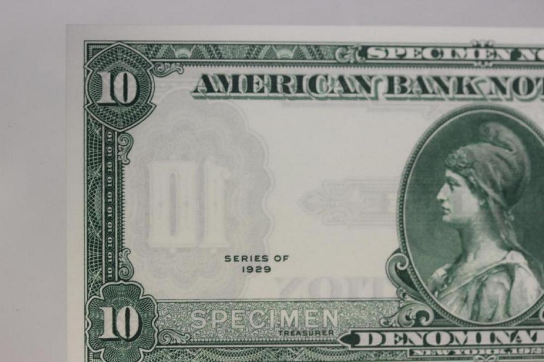 A Very Rare Graded 1929 Specimen Bank Note - 5