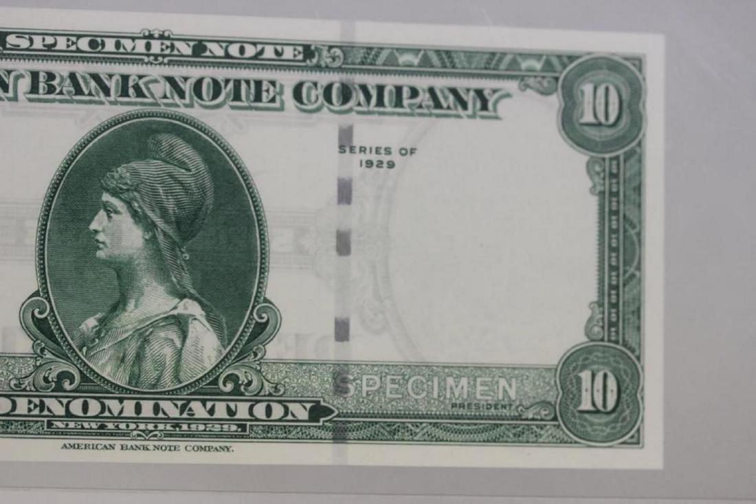 A Very Rare Graded 1929 Specimen Bank Note - 6
