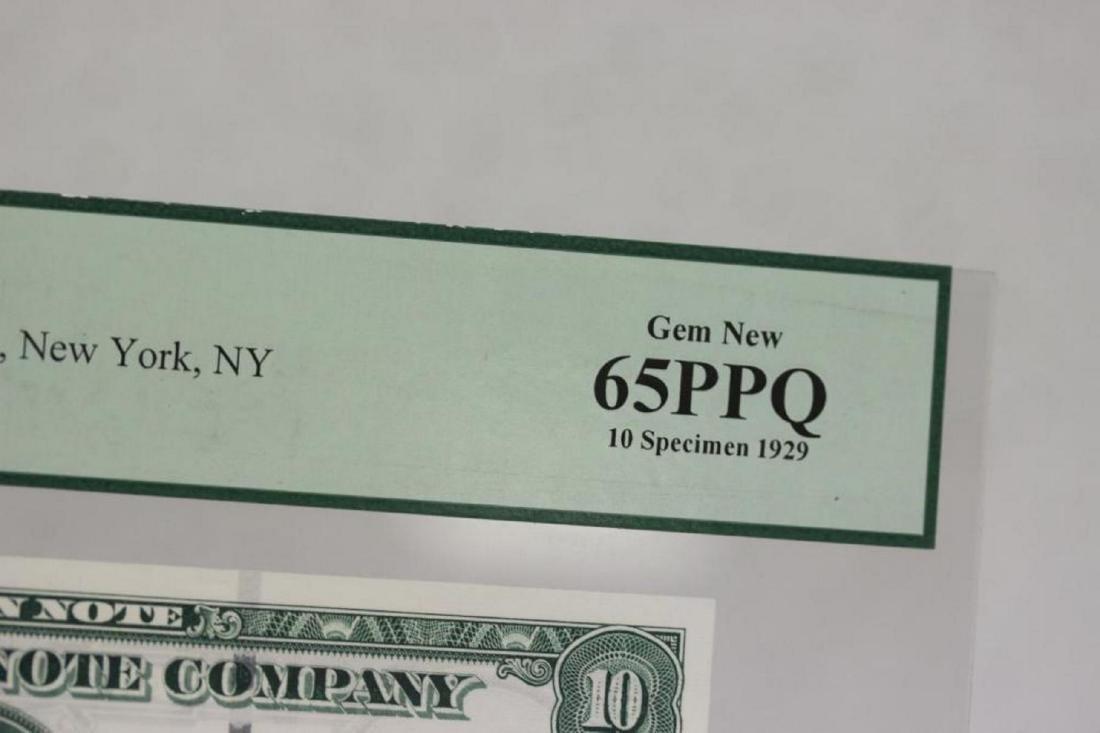 A Very Rare Graded 1929 Specimen Bank Note - 7