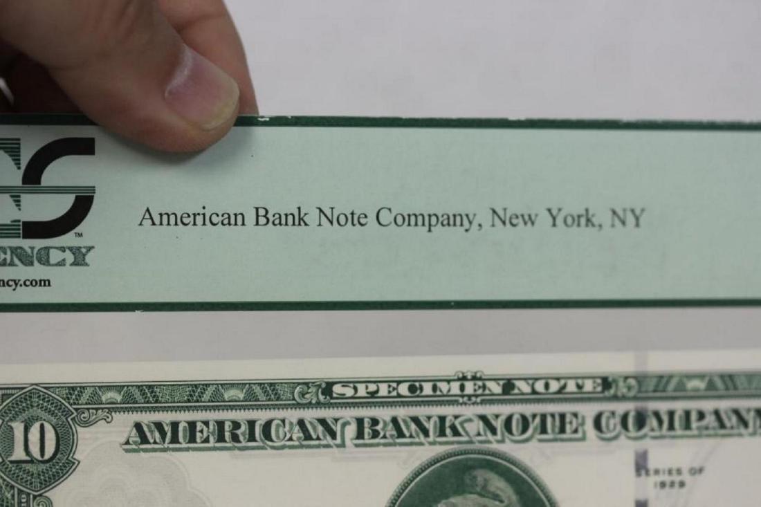 A Very Rare Graded 1929 Specimen Bank Note - 8