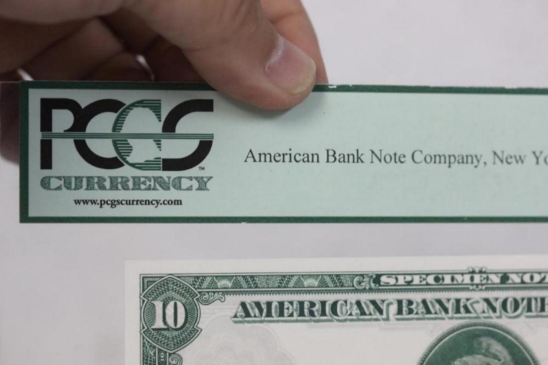 A Very Rare Graded 1929 Specimen Bank Note - 9