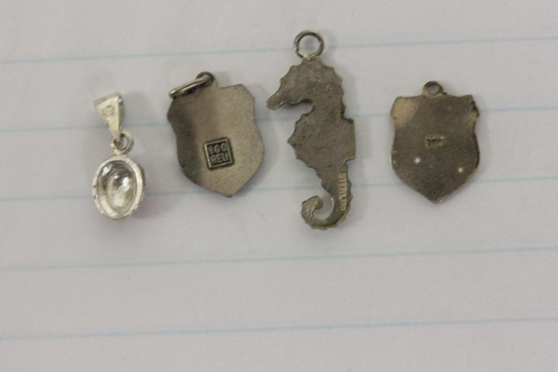 Lot of 4 Sterling and Silver Charms - 2