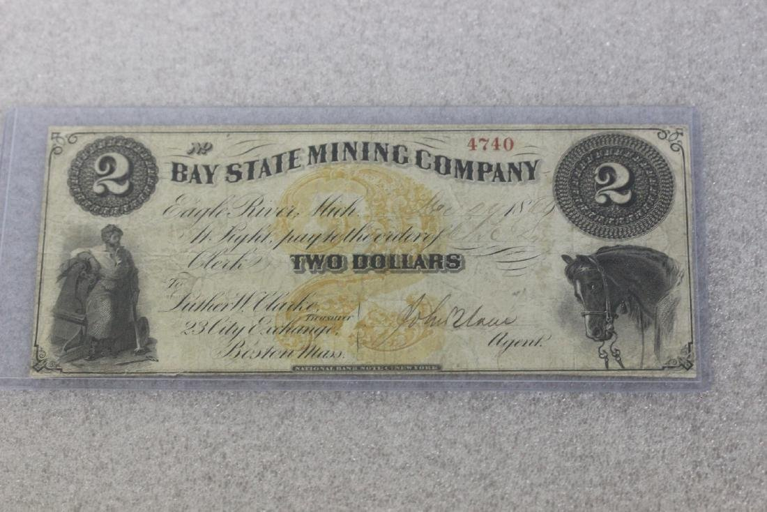 An 1860's Two Dollar Large Note