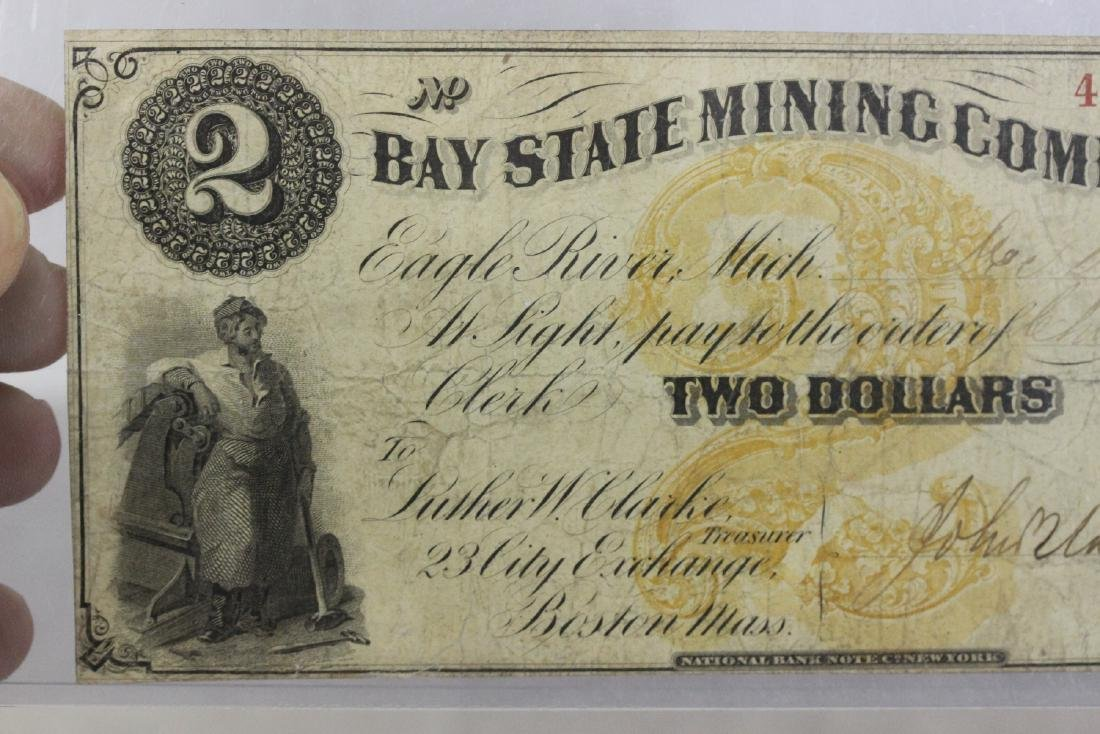 An 1860's Two Dollar Large Note - 2