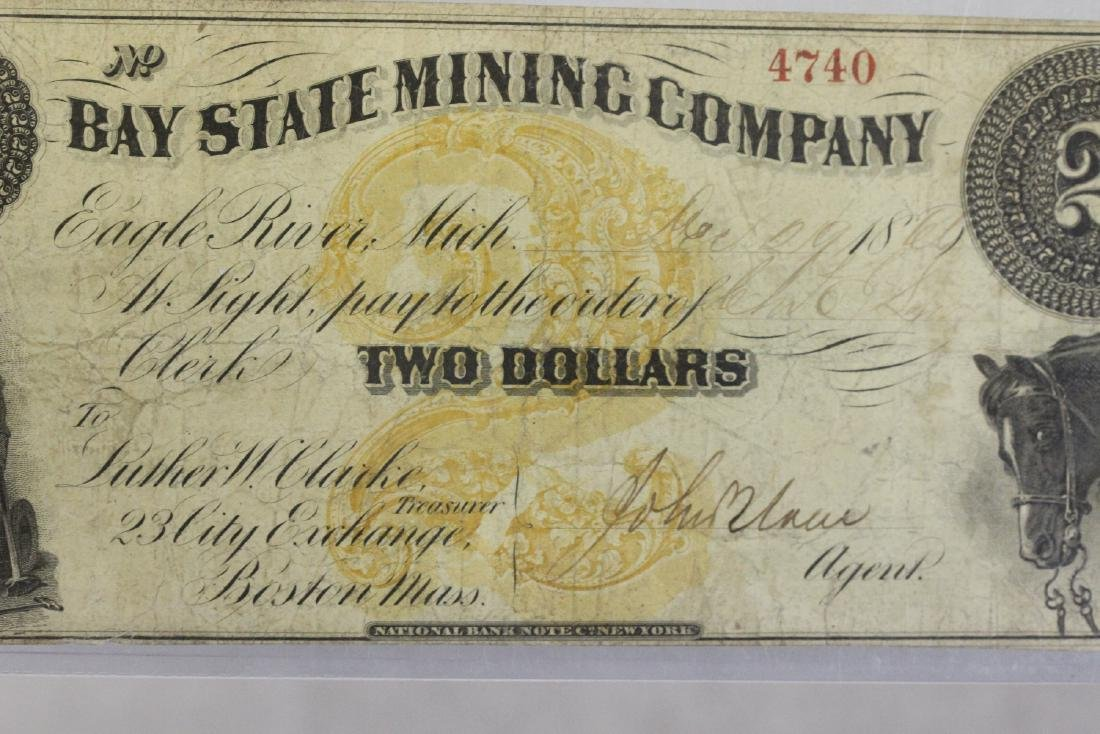 An 1860's Two Dollar Large Note - 3