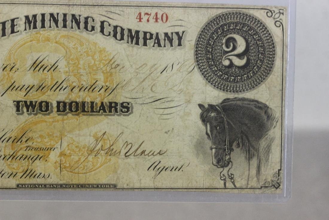 An 1860's Two Dollar Large Note - 4