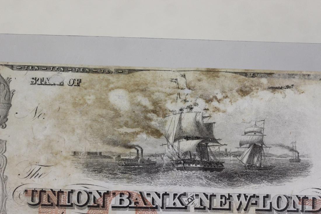A Union Bank New London Ten Dollar Note - 3