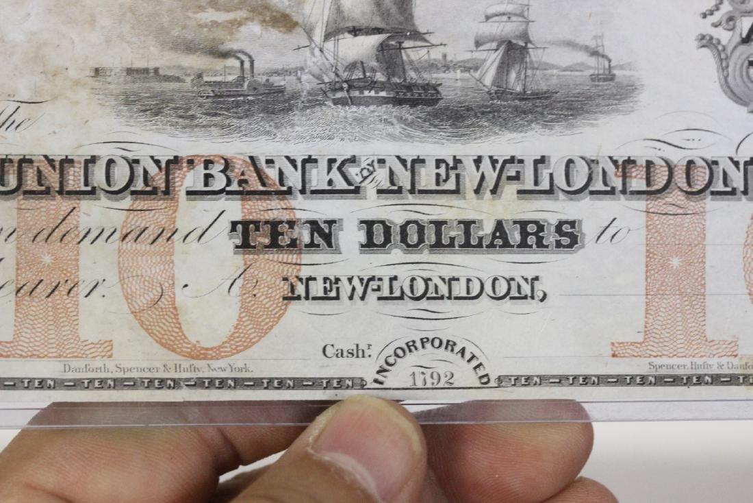 A Union Bank New London Ten Dollar Note - 4