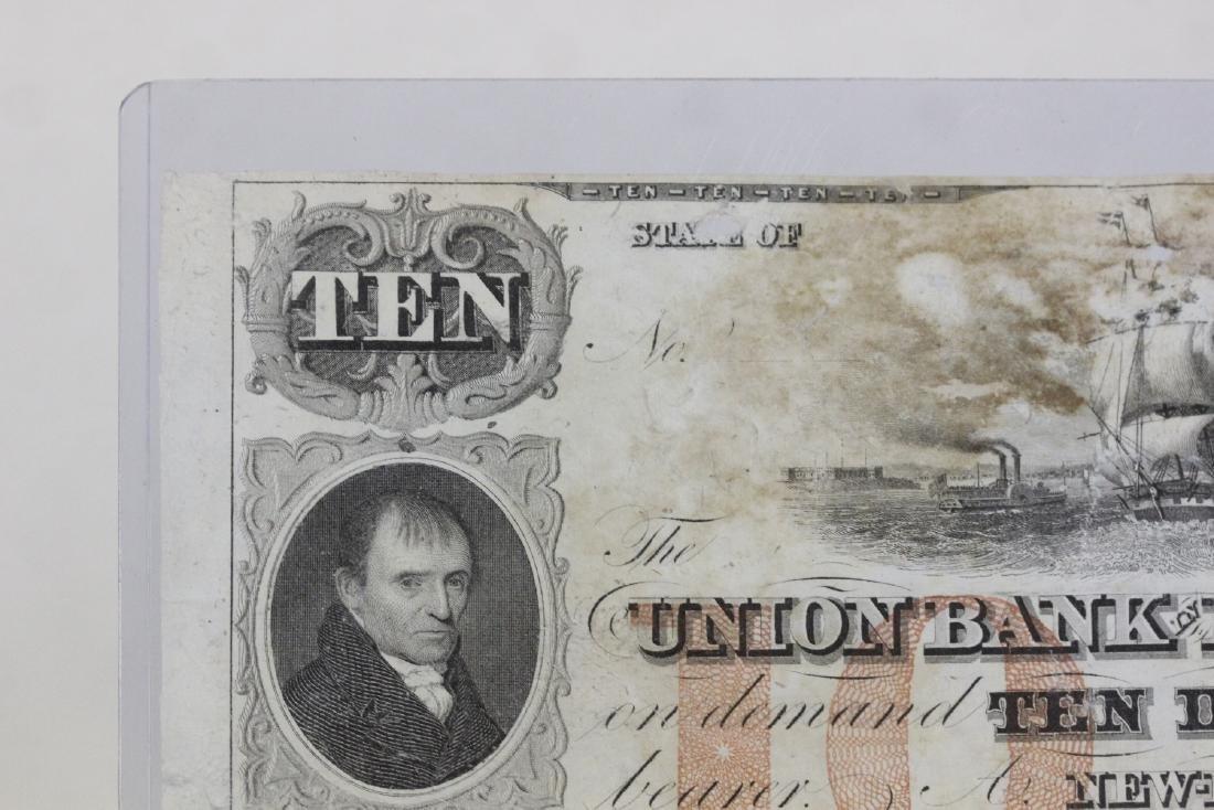 A Union Bank New London Ten Dollar Note - 7