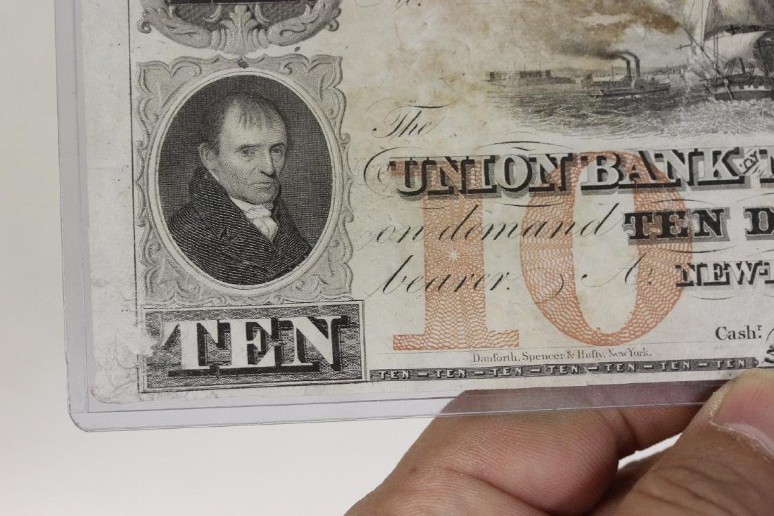 A Union Bank New London Ten Dollar Note - 8