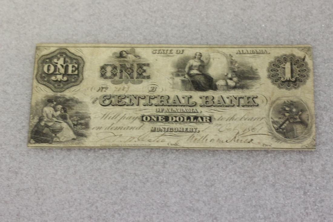 An 1861 One Dollar Note