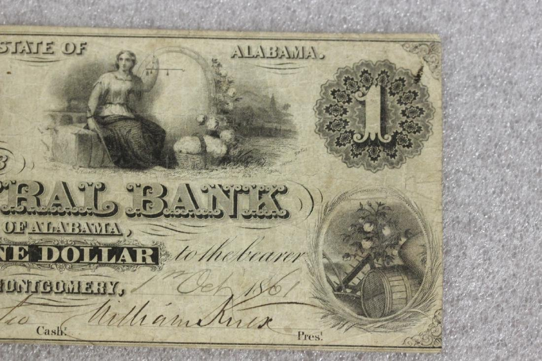 An 1861 One Dollar Note - 5