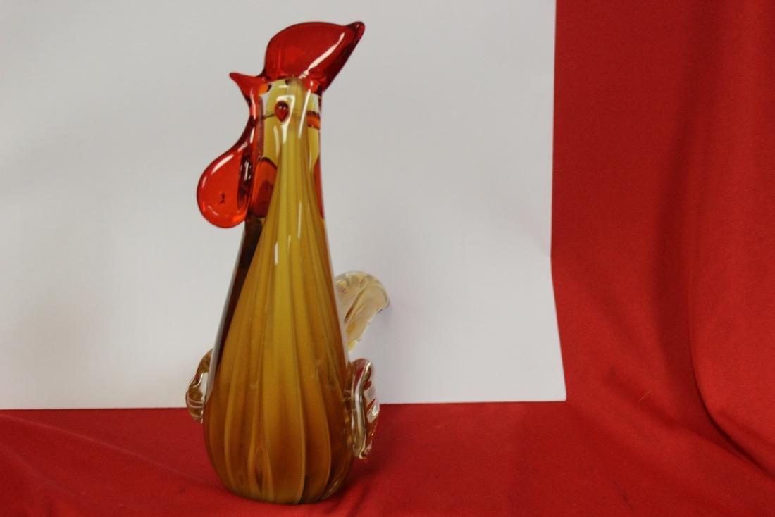 An Art Glass Rooster - 3