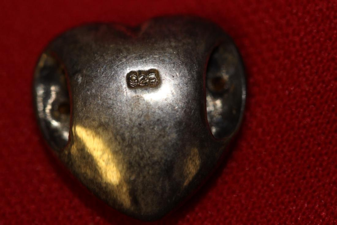 A Sterling Heart Pendant - 2