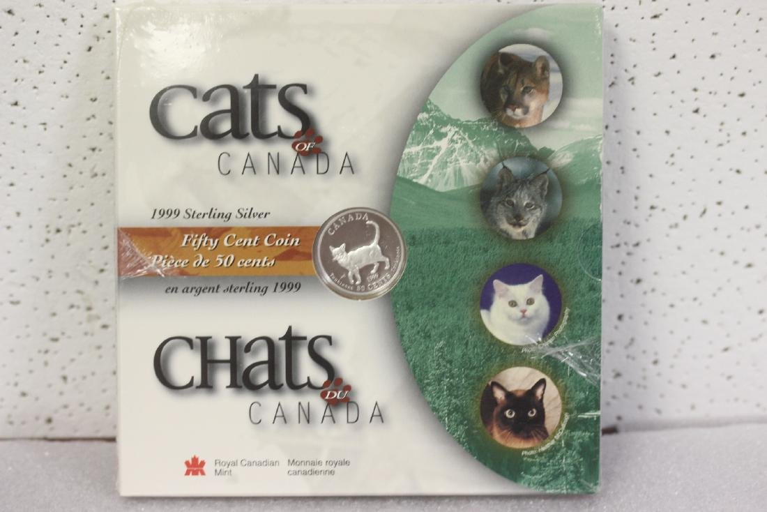 Cats of Canada Sterling Coin - 1999