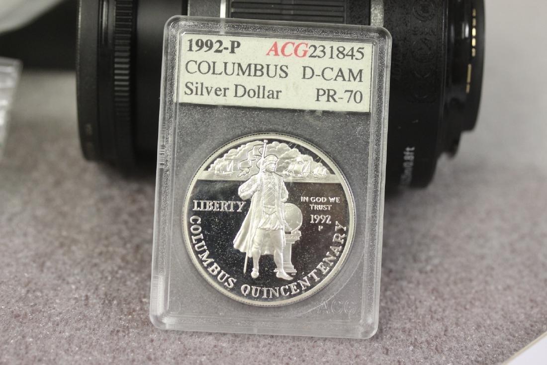 A 1992 P Columbus Silver Dollar