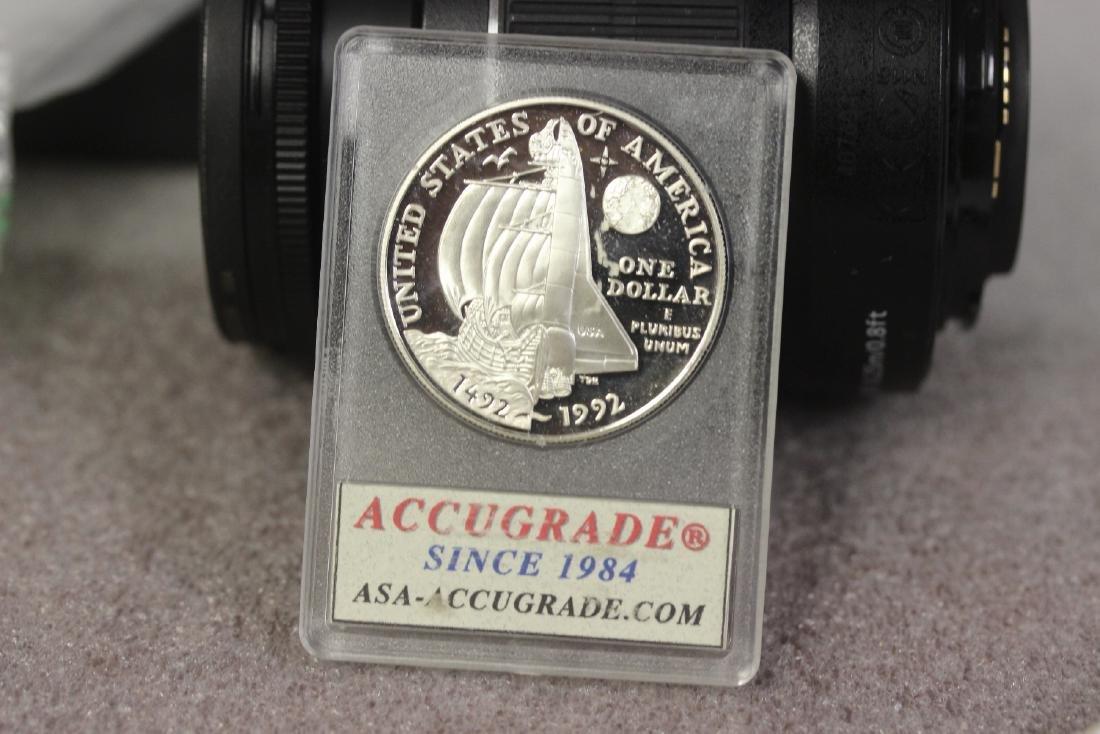 A 1992 P Columbus Silver Dollar - 2