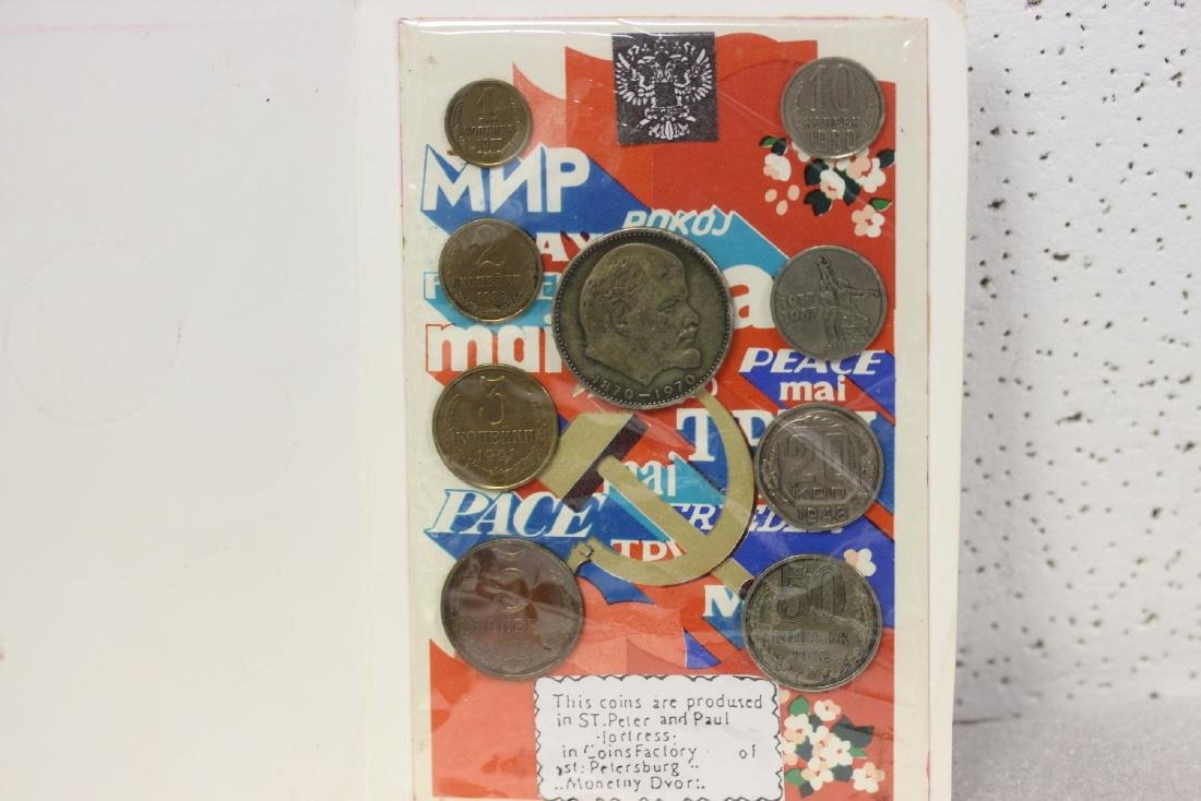 A Russian Coin Set