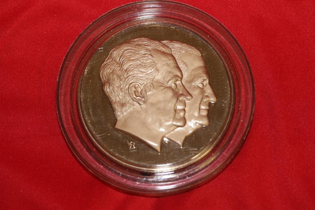 a Richard Nixon and Spiro Agnew Bronze Medal