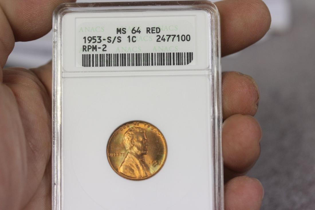 A Graded S/S 1953 Wheat Penny