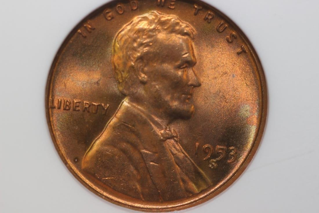 A Graded S/S 1953 Wheat Penny - 2