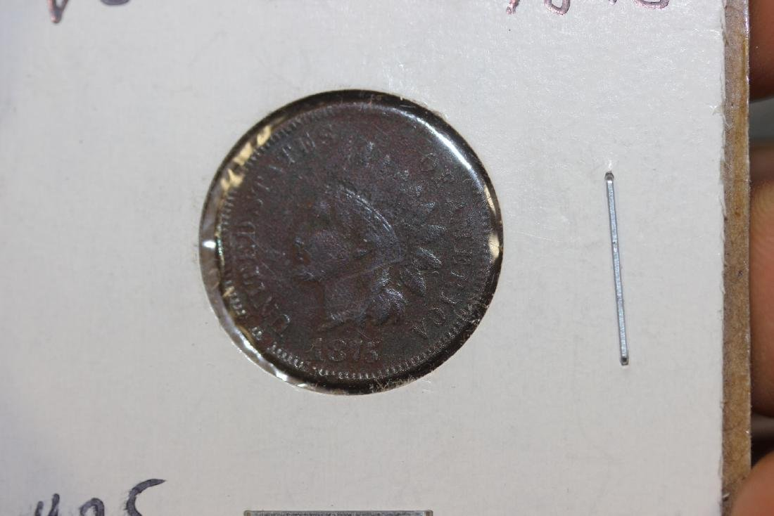 An 1875 Indian Head Penny