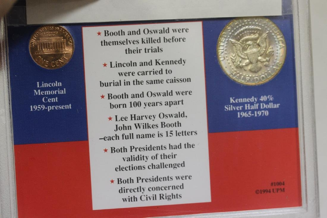 Lincoln-Kennedy Coincidence Coin Set - 2