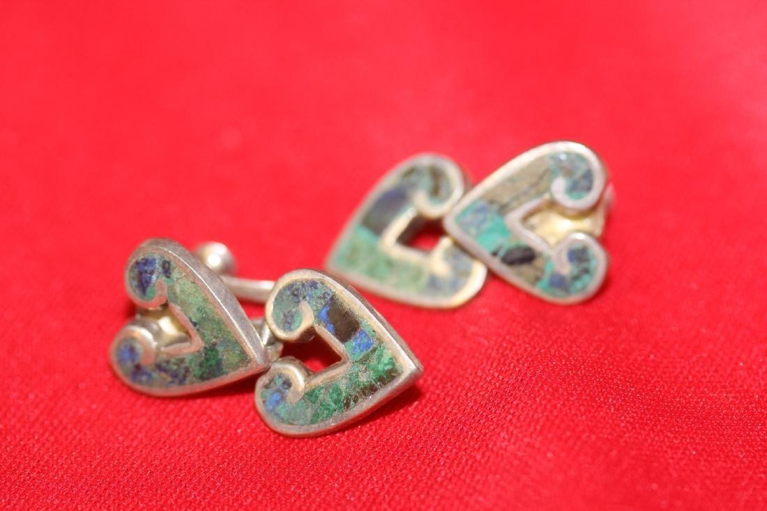 A Pair of Sterling Enamel Earrings