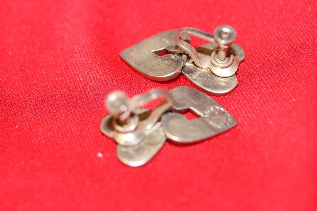 A Pair of Sterling Enamel Earrings - 2
