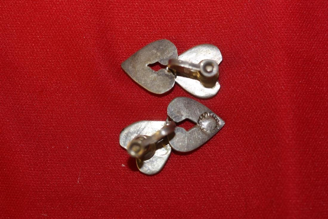 A Pair of Sterling Enamel Earrings - 3