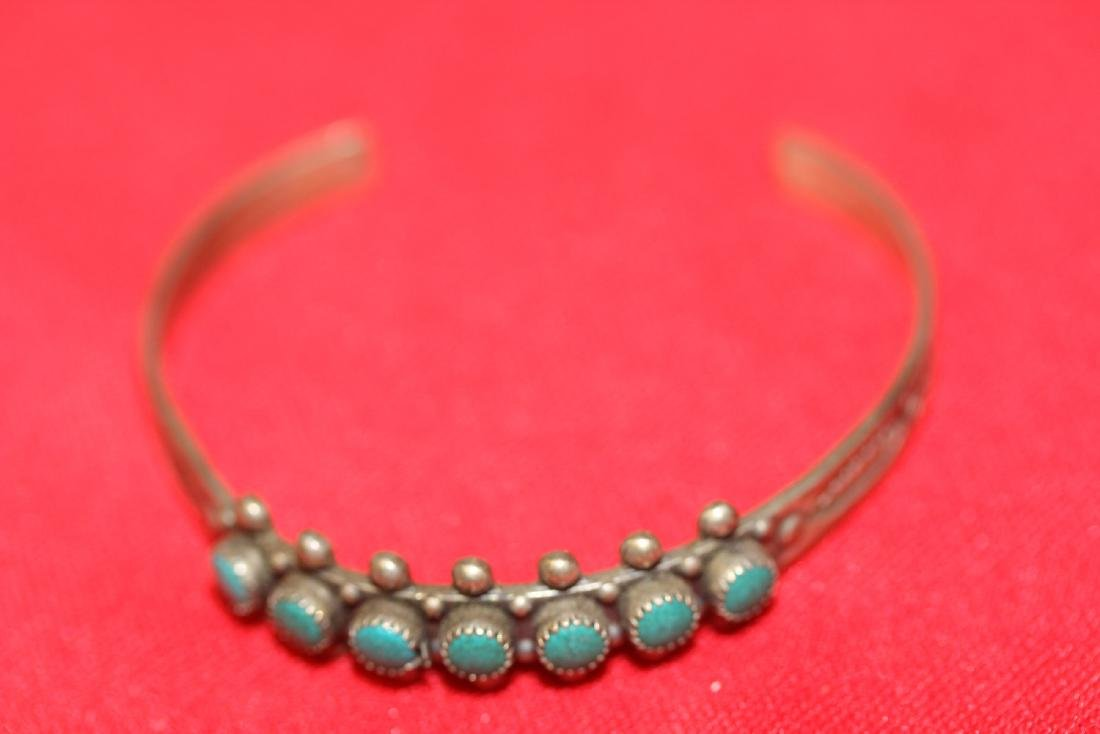 A Sterling and Torquise Child Bracelet