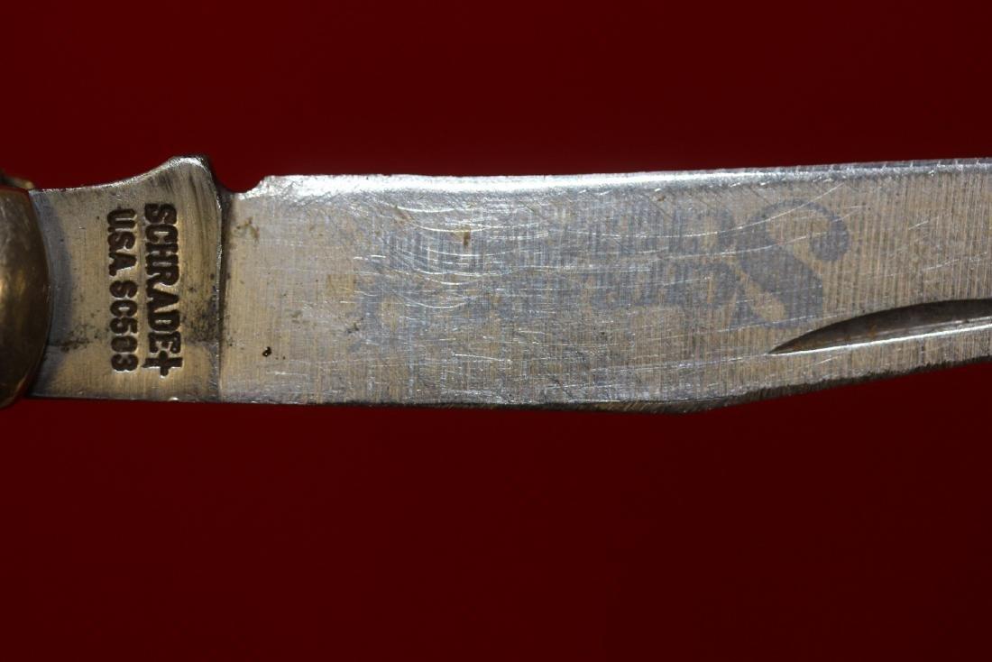 A Schrade Scrimshaw Pocket Knife - 4