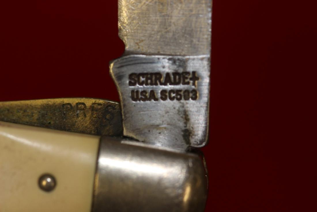 A Schrade Scrimshaw Pocket Knife - 7
