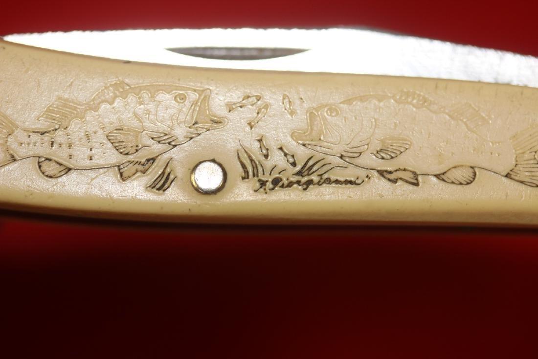 A Schrade Scrimshaw Pocket Knife - 9