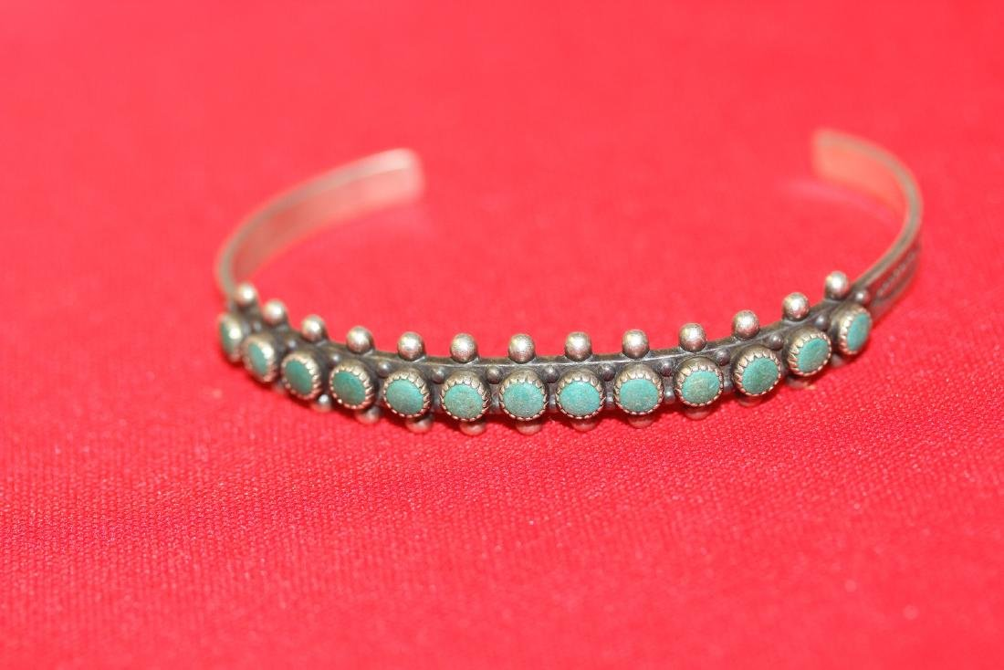 A Sterling and Torquise Bracelet