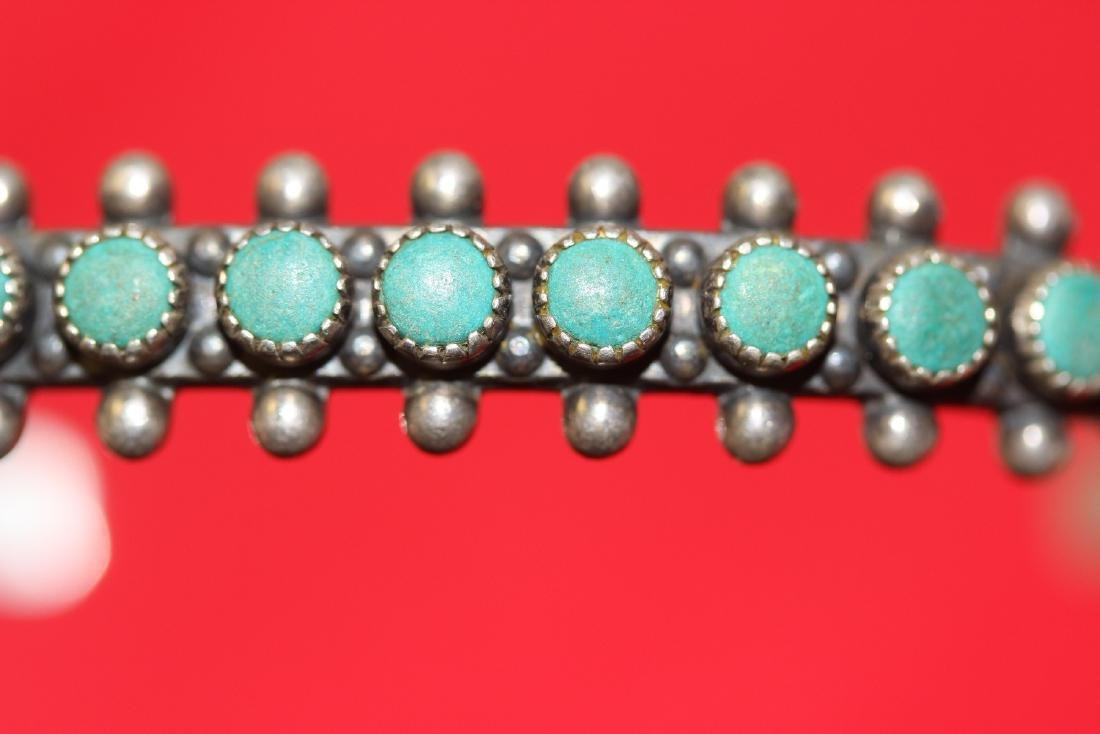 A Sterling and Torquise Bracelet - 2