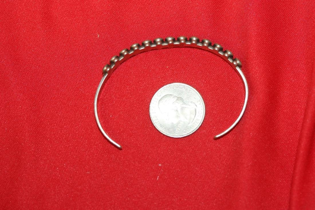 A Sterling and Torquise Bracelet - 6