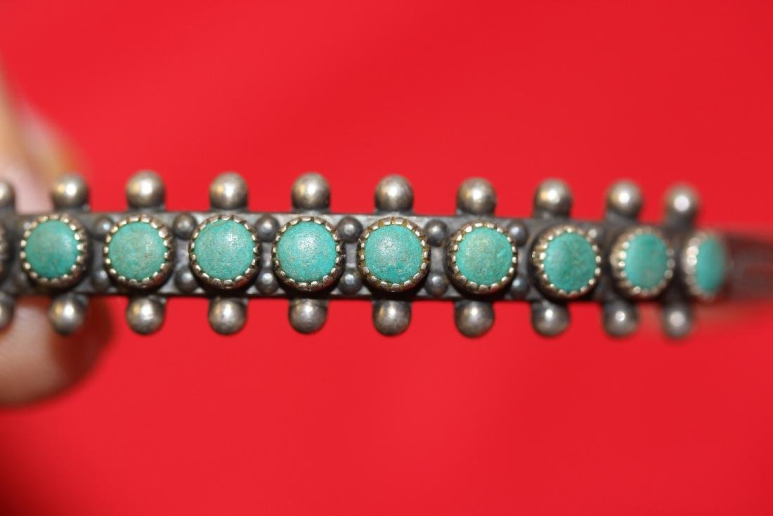 A Sterling and Torquise Bracelet - 7