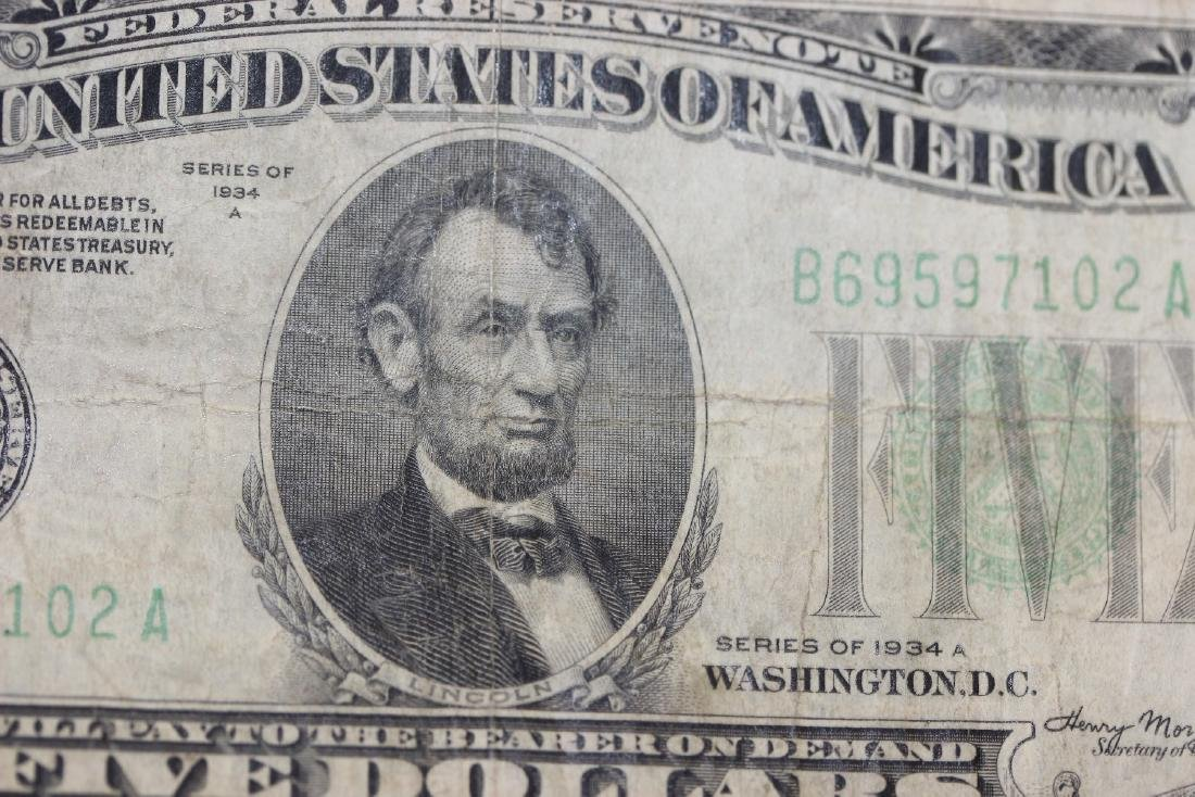A 1934 Five Dollar Note - 4