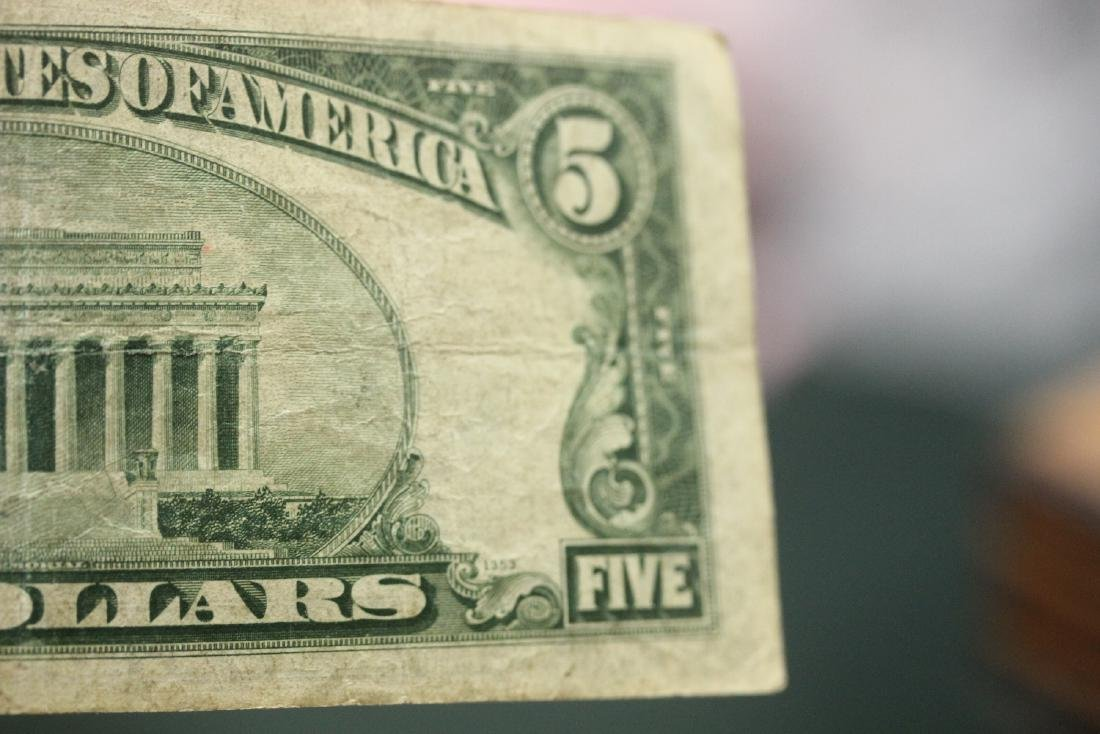 A 1934 Five Dollar Note - 8