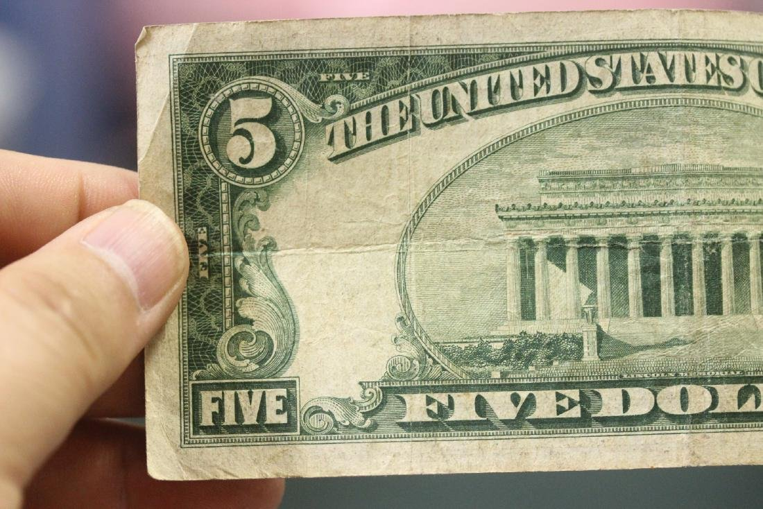 A 1934 Five Dollar Note - 9