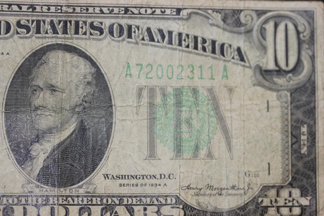 A 1934 Ten Dollar Note - 3