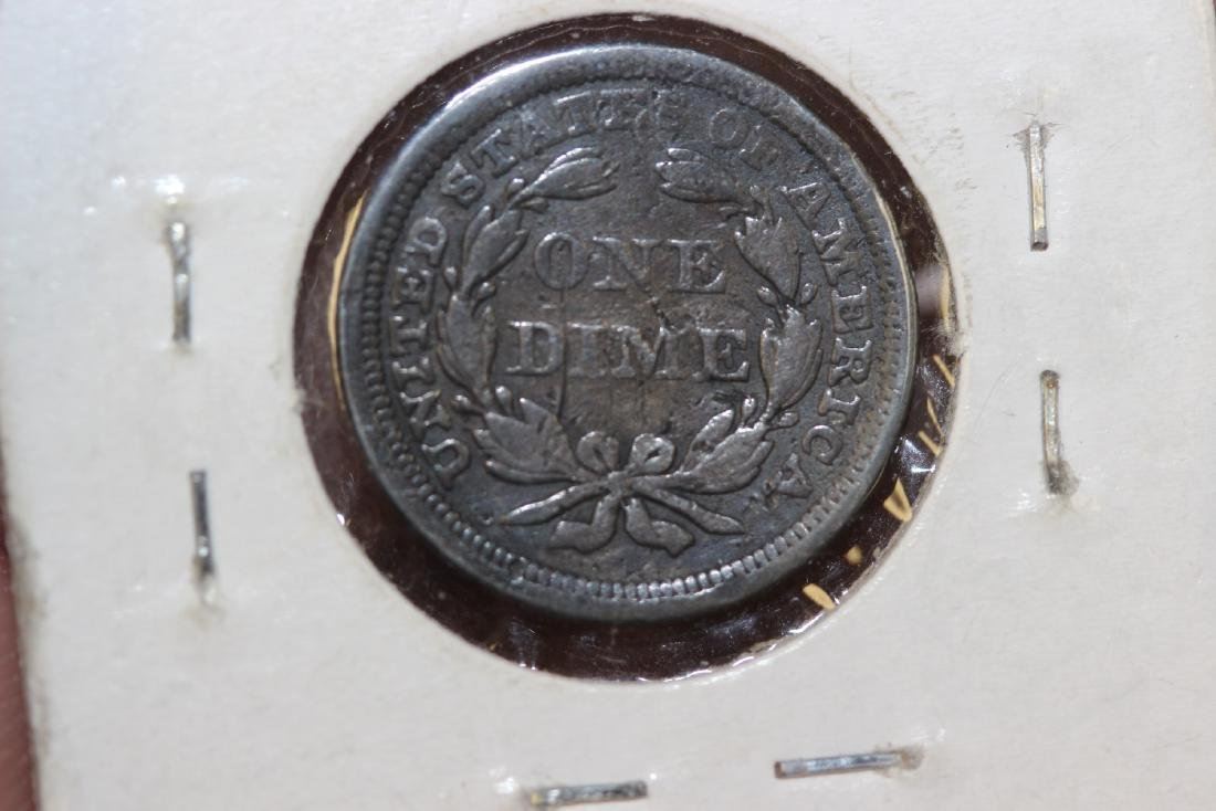 An 1854 Dime - 3