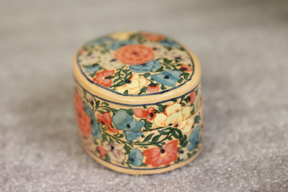 A Carol Sax Design Lacquer Trinket Box - 5