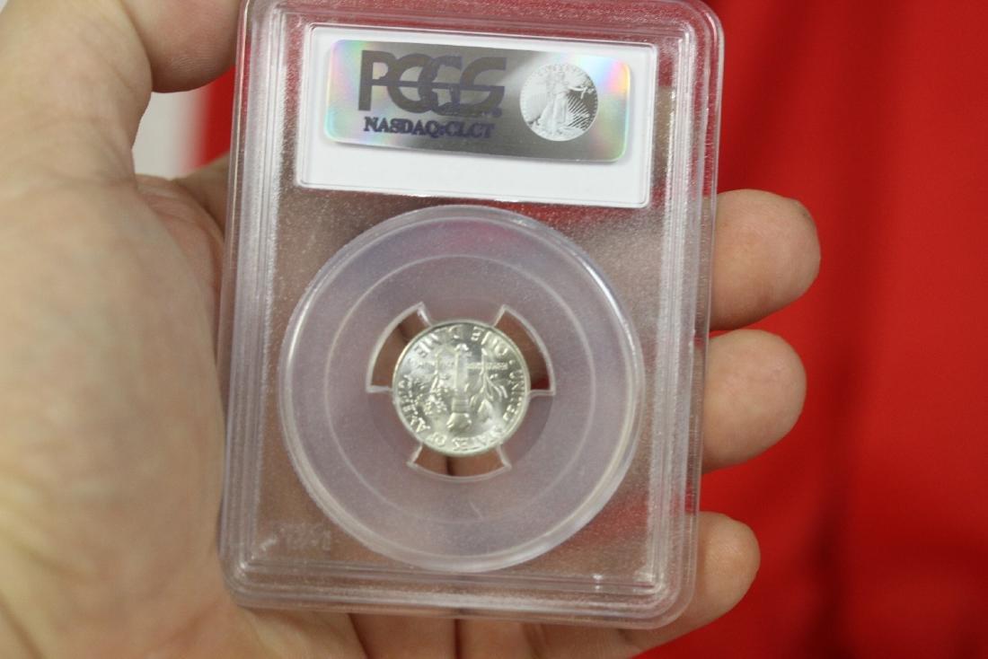 A Graded 1959-D Roosevelt 10 cents - 2